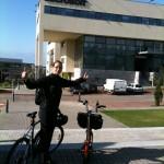 K. no Tagus Park - Bike Buddy em acção entre a Amadora e o Tagus Park